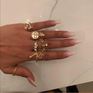 Snake & stone ring set!